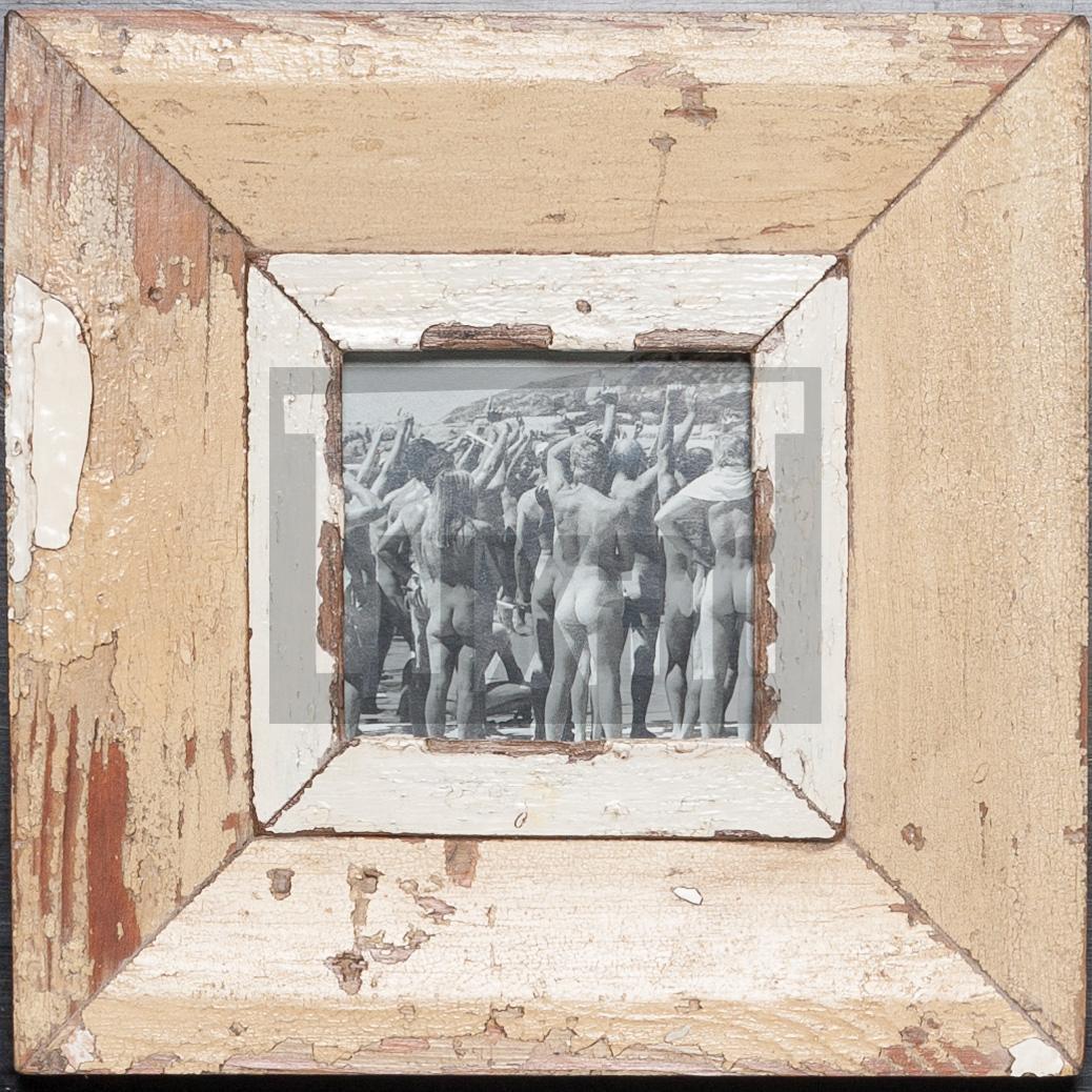 Quadratischer Holzrahmen für ca. 10,5 x 10,5 cm