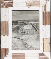 Holzmosaik-Bilderrahmen für Fotos ca. 21 x 29,7 cm