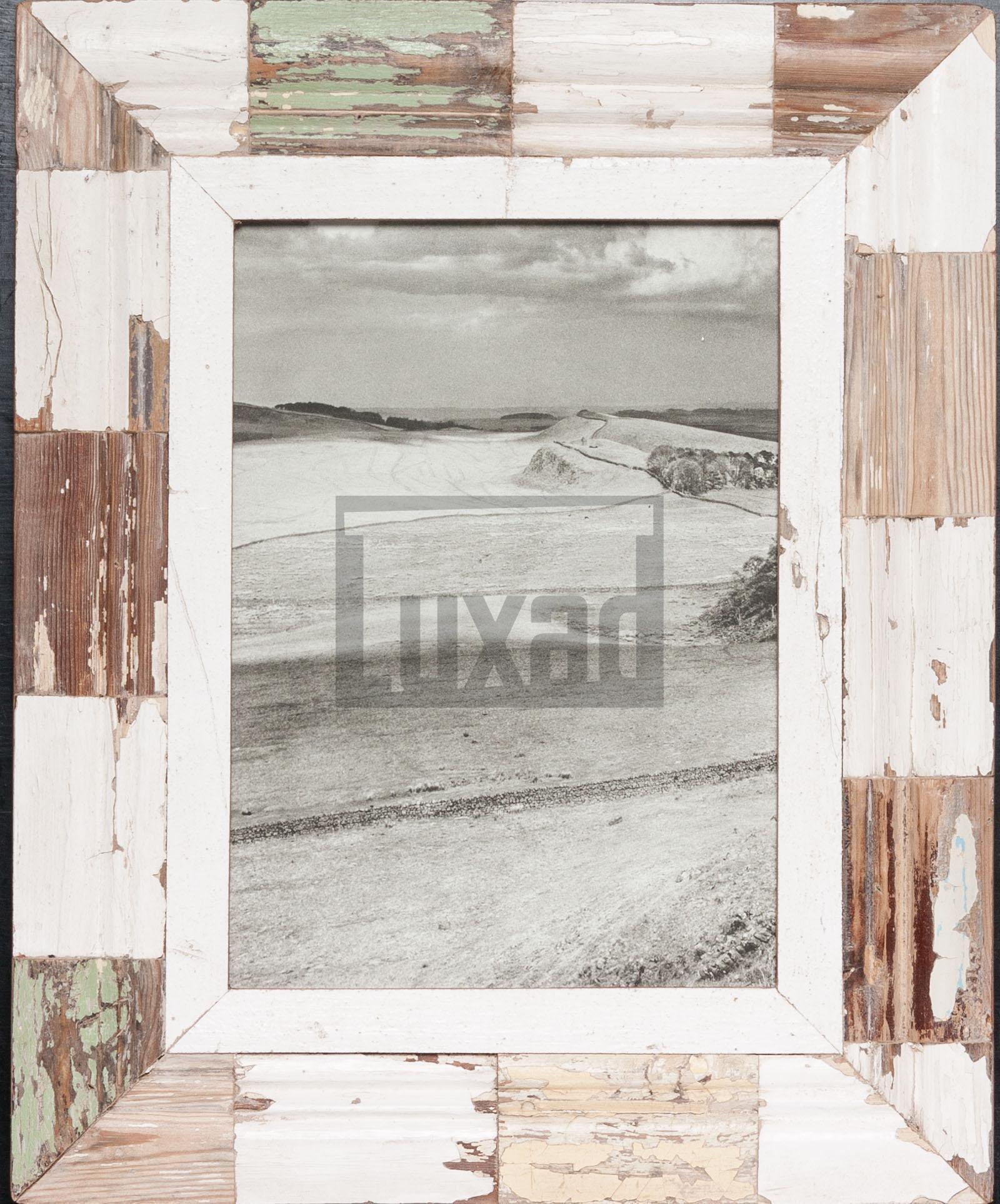 Holzmosaik-Bilderrahmen für ca. 21 x 29,7 cm große Fotos