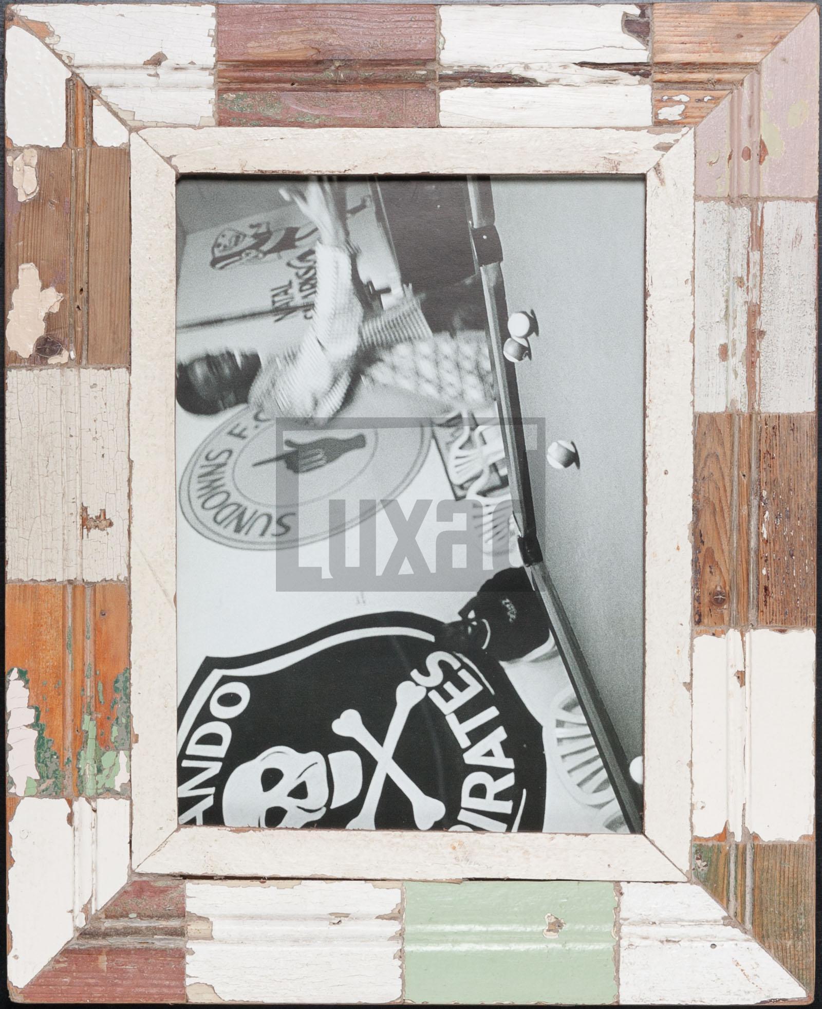 Vintage-Bilderrahmen mit Holzmosaik für Fotos DIN A4