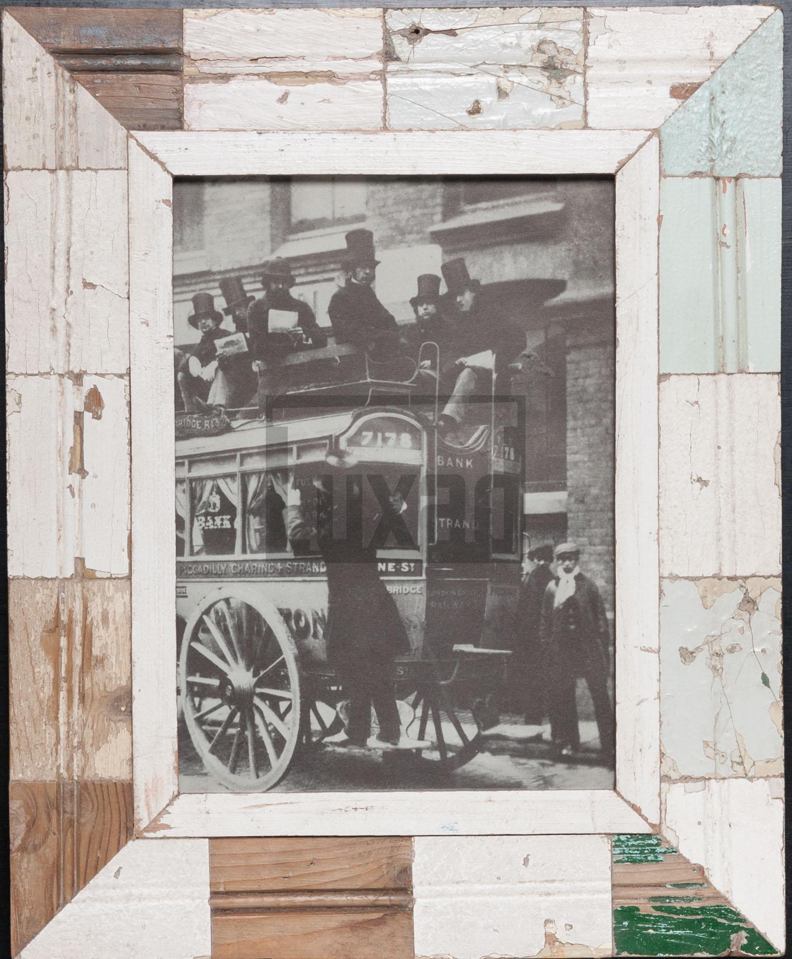 Holzmosaik-Fotorahmen für Fotos DIN A4