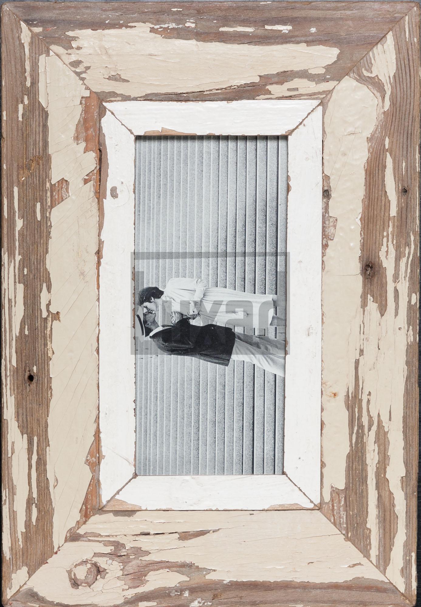 Wechselrahmen für Panoramen aus Altholz für Fotos ca. 10,5 x 29,7 cm
