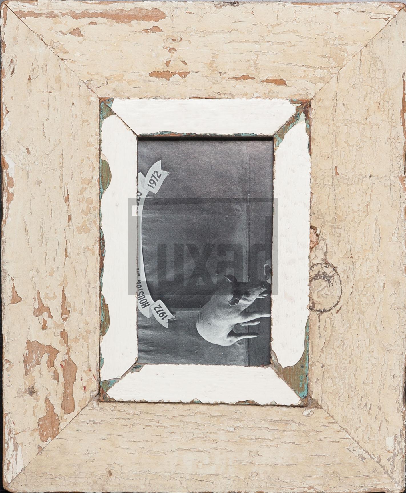 Vintage-Fotorahmen aus recyceltem Holz für Postkarten