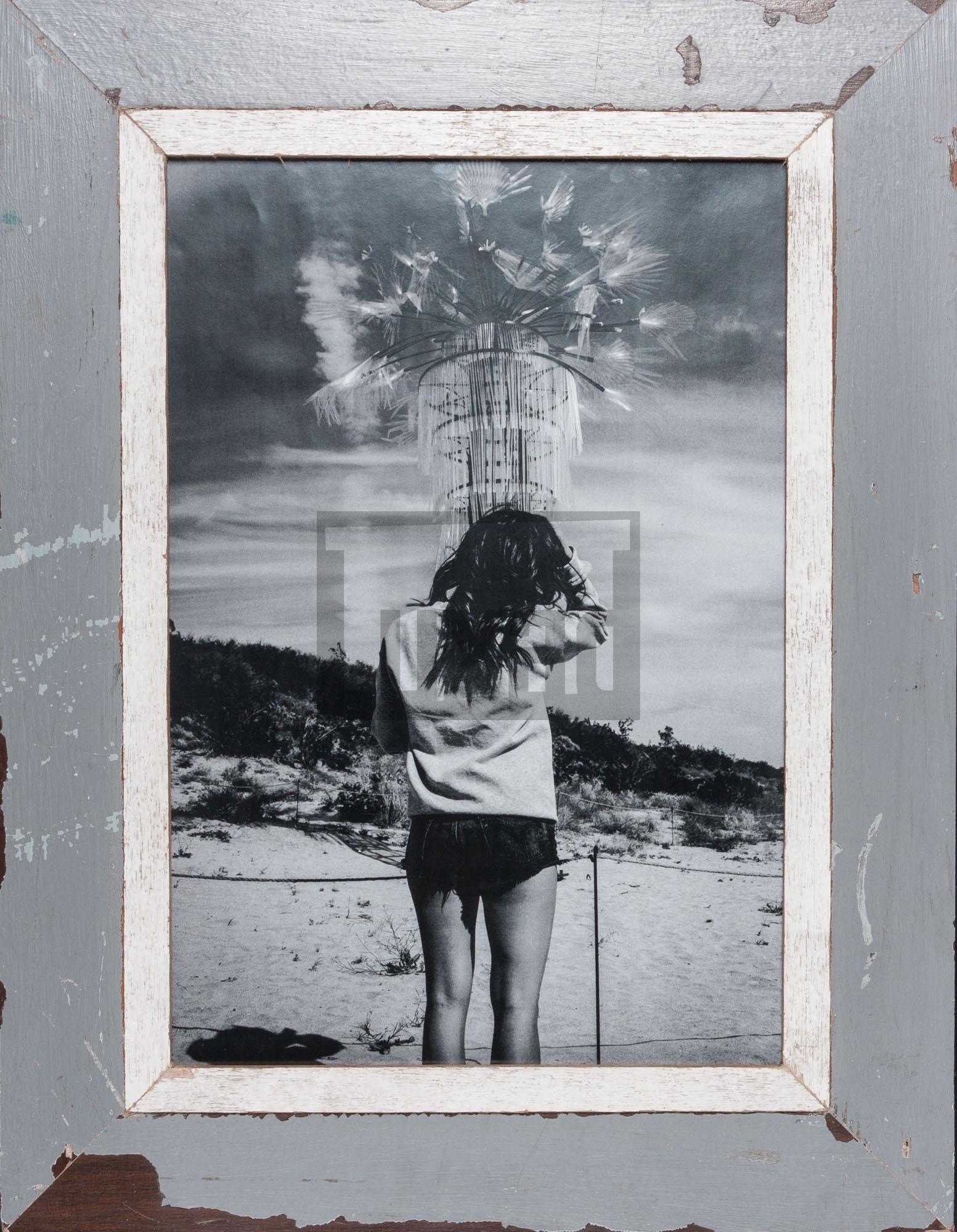 Grauer Holzbilderrahmen für Fotos DIN A3