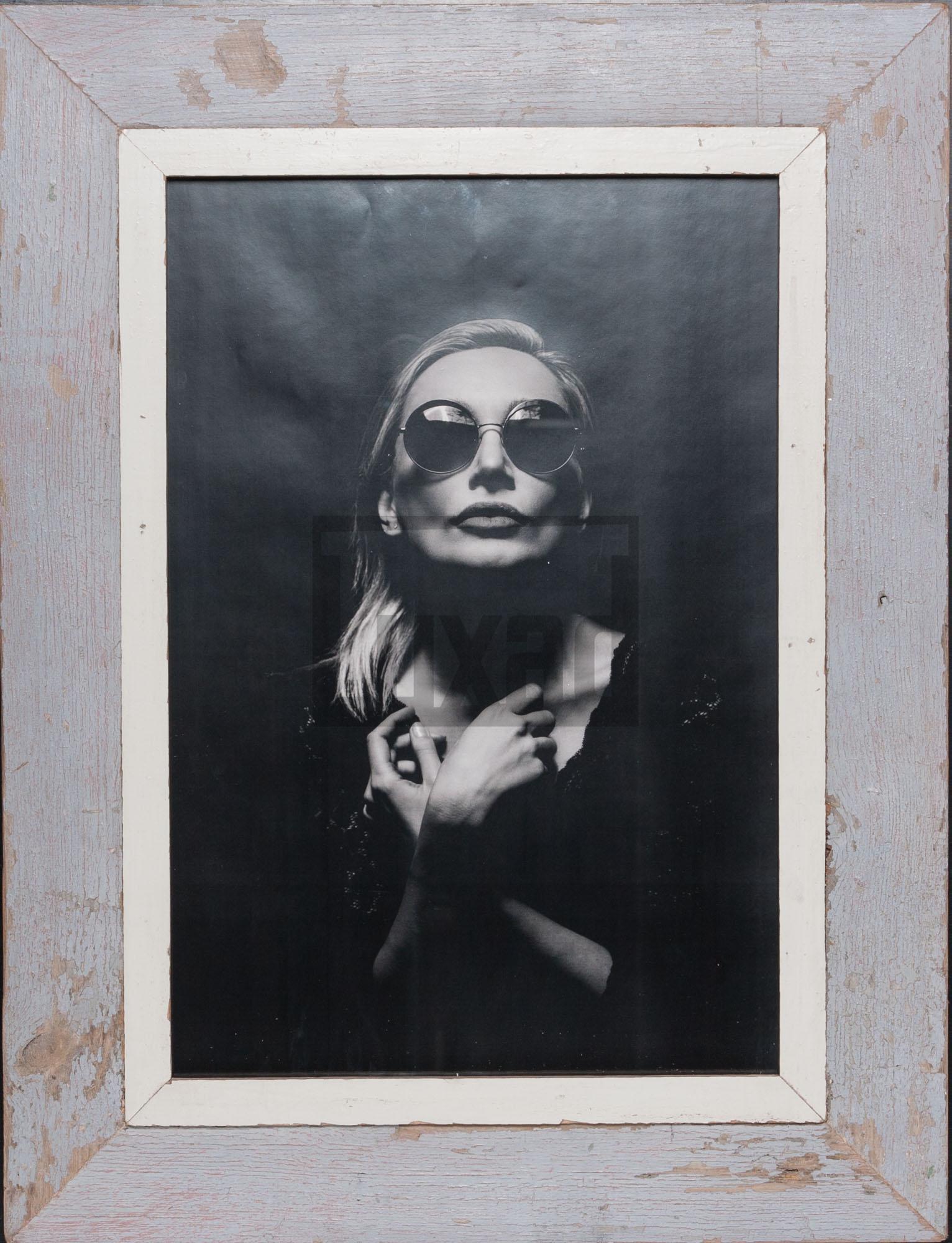 Vintage-Fotorahmen aus recyceltem Holz für ca. 29,7 x 42 cm große Fotos