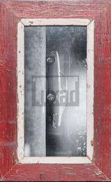 Roter Vintage-Panorama-Bilderrahmen für Fotos ca. 21 x 42 cm