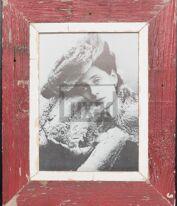 Roter Vintage-Bilderrahmen