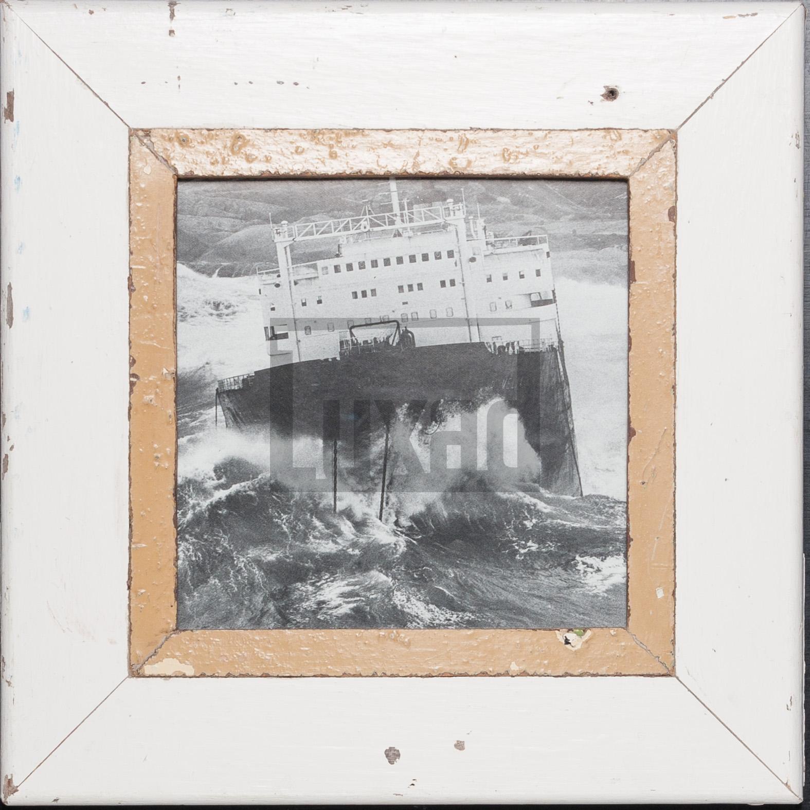 Quadratischer Bilderrahmen aus recyceltem Holz für dein Lieblingsfoto