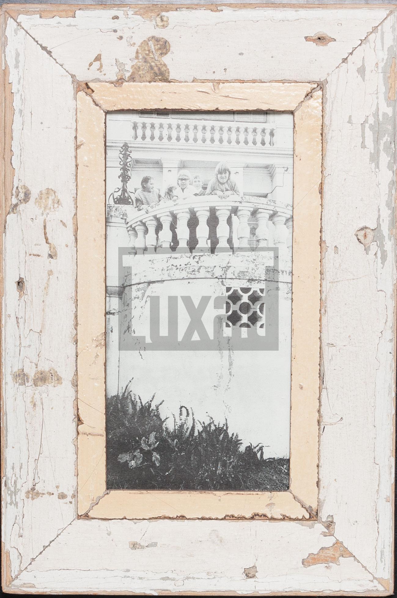 Panorama-Bilderrahmen aus recyceltem Holz für Panoramafotos
