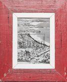 Roter Vintage-Bilderrahmen aus altem Holz für Fotos DIN A5