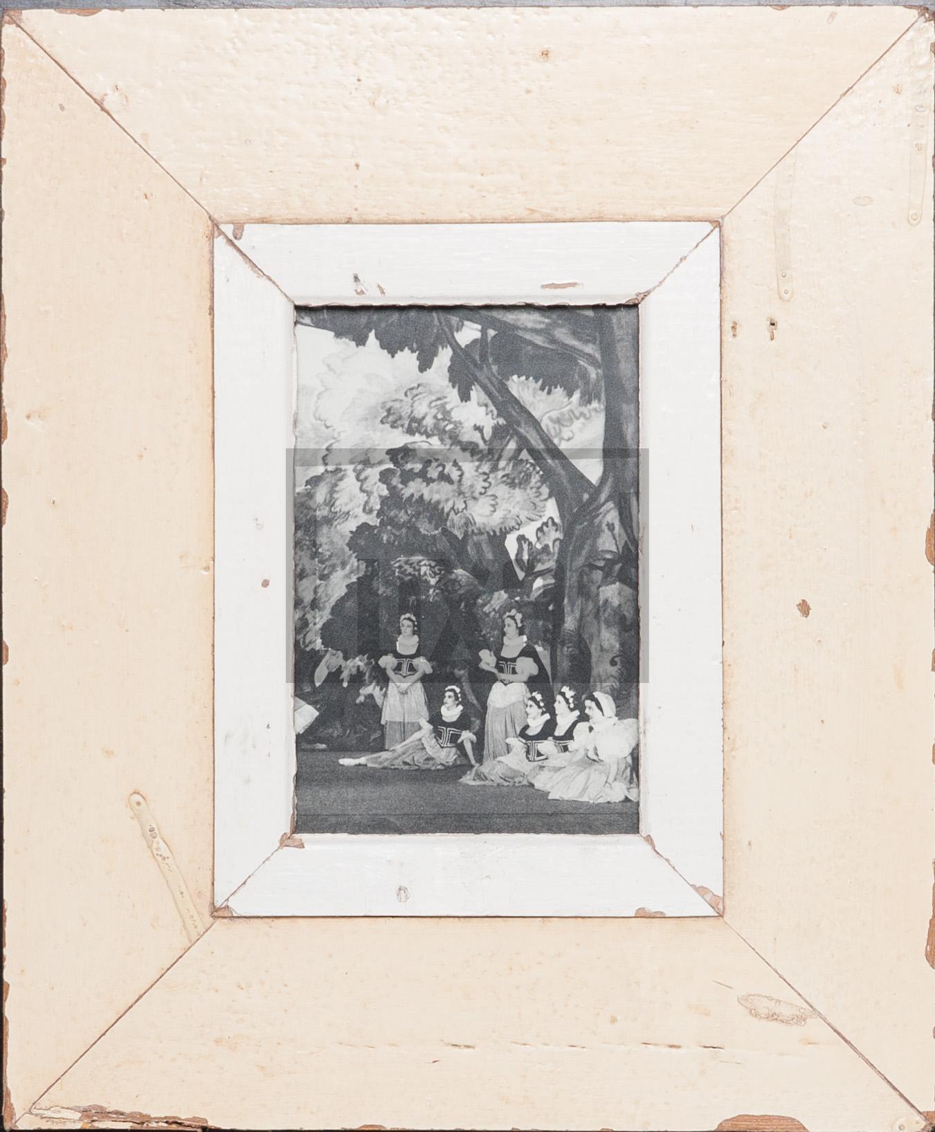 Vintage-Bilderrahmen aus altem Holz für kleine Fotos