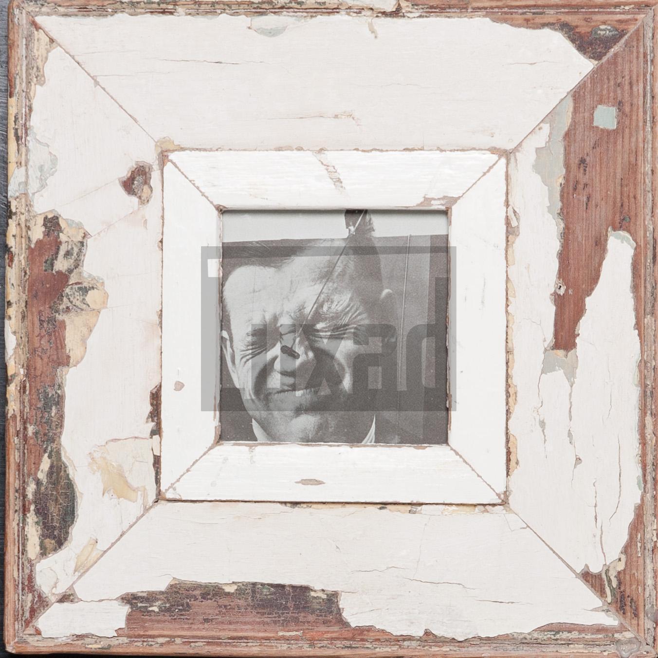 Quadratischer Altholz-Bilderrahmen aus Kapstadt
