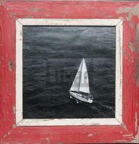 Quadratischer Bilderrahmen aus recyceltem Holz von der Luna Design Company