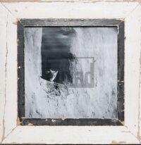 Quadratischer Vintage-Fotorahmen aus recyceltem Holz für quadratische 29,7 x 29,7 cm