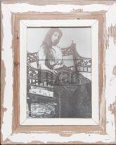 Vintage-Bilderrahmen aus altem Holz für Fotos ca. 21 x 29,7 cm