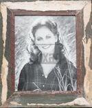 Vintage-Fotorahmen aus recyceltem Holz für 20 x 25 cm Bildformat