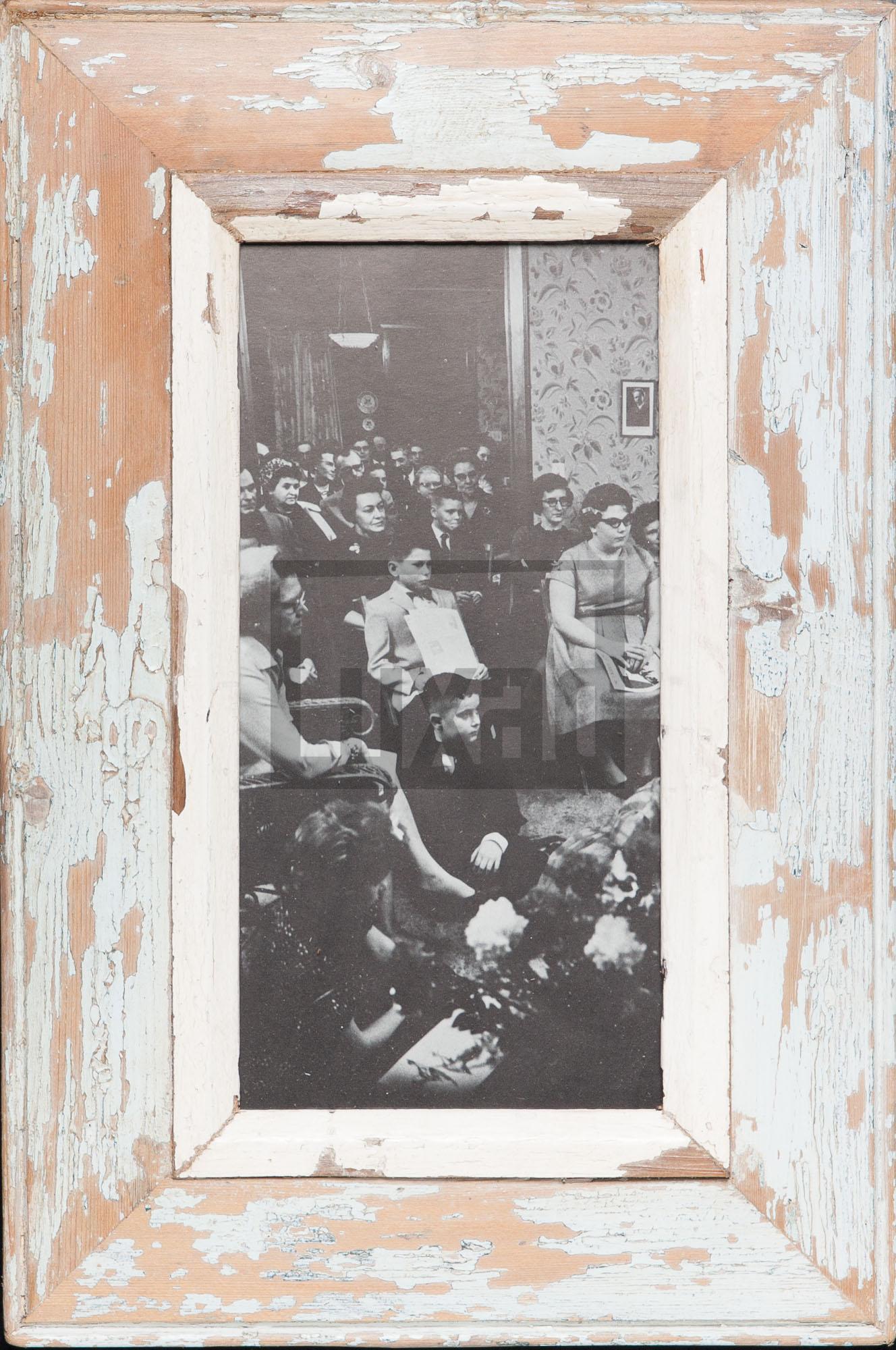 Panorama-Bilderrahmen aus altem Holz für Fotos ca. 15 x 29,7 cm