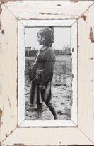 Panorama-Bilderrahmen aus altem Holz aus Südafrika