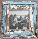 Quadratischer Holzrahmen für ca. 14,8 x 14,8 cm große Fotos