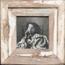 Quadratischer Vintage-Fotorahmen aus recyceltem Holz aus Südafrika