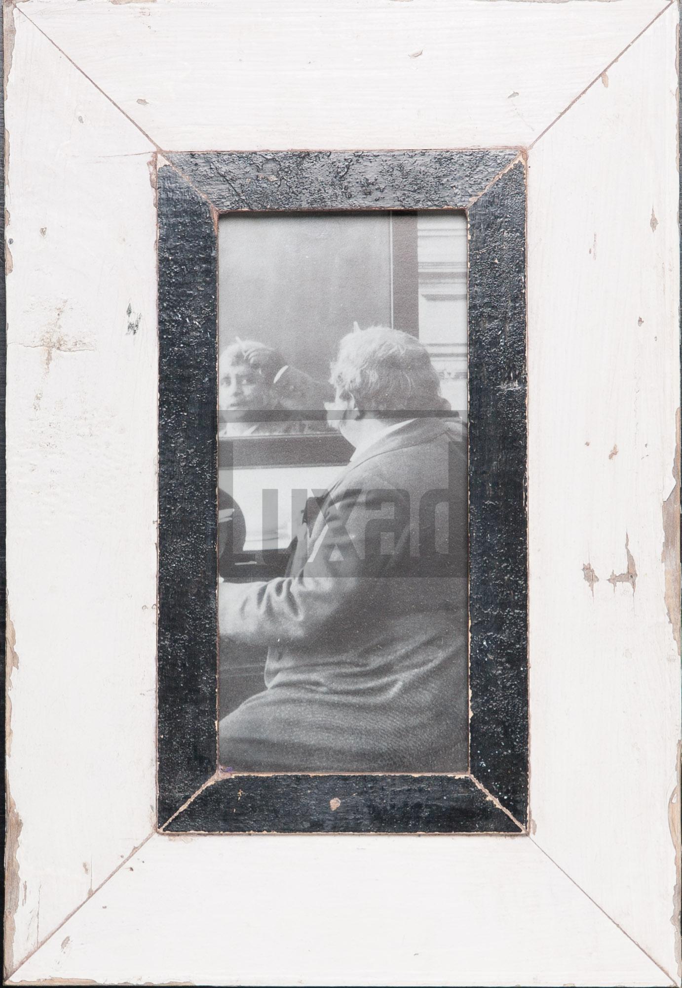 Schmaler Vintage-Bilderrahmen für Fotos ca. 10,5 x 29,7 cm