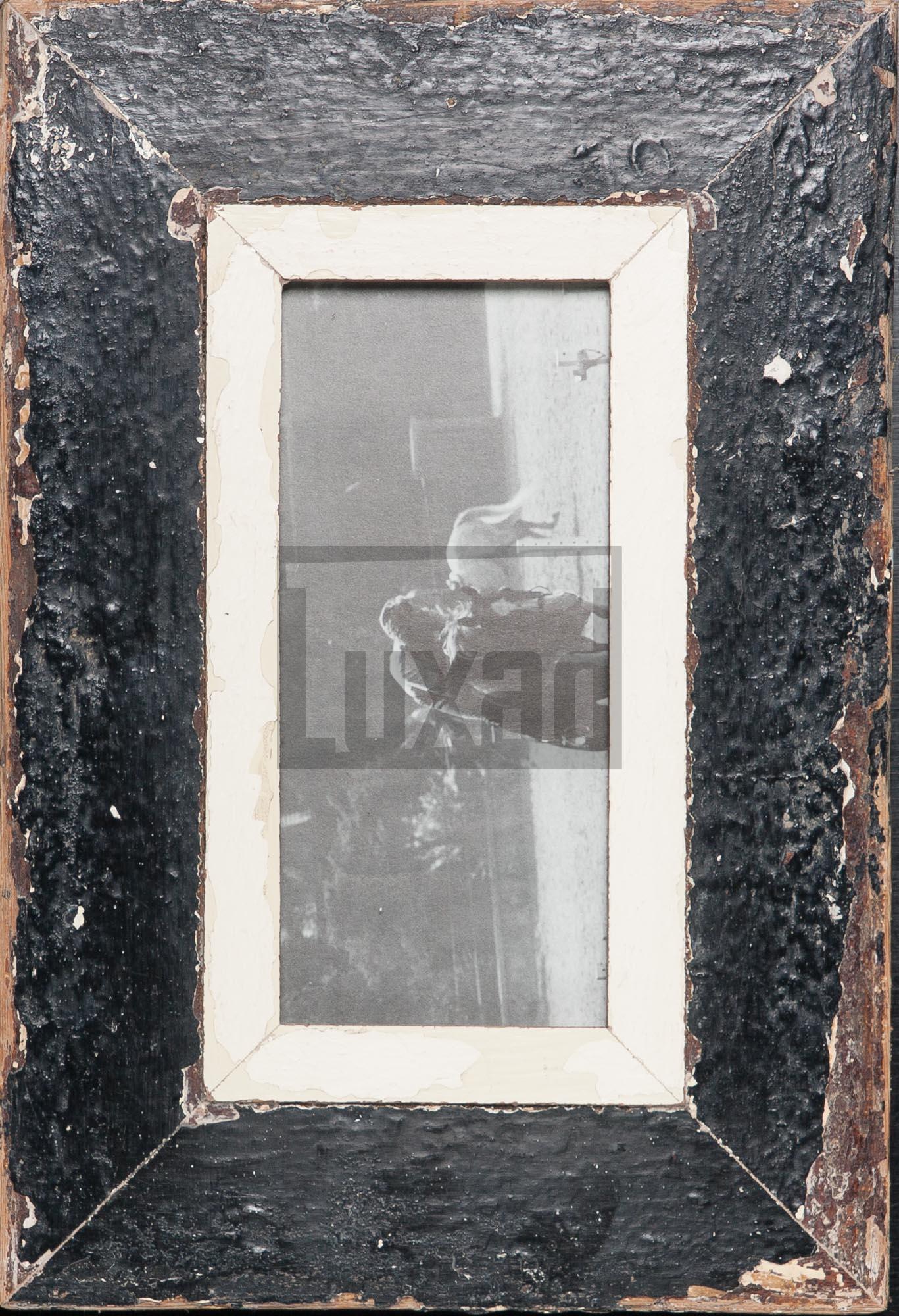 Panorama-Bilderrahmen aus altem Holz für Fotos ca. 10,5 x 29,7 cm