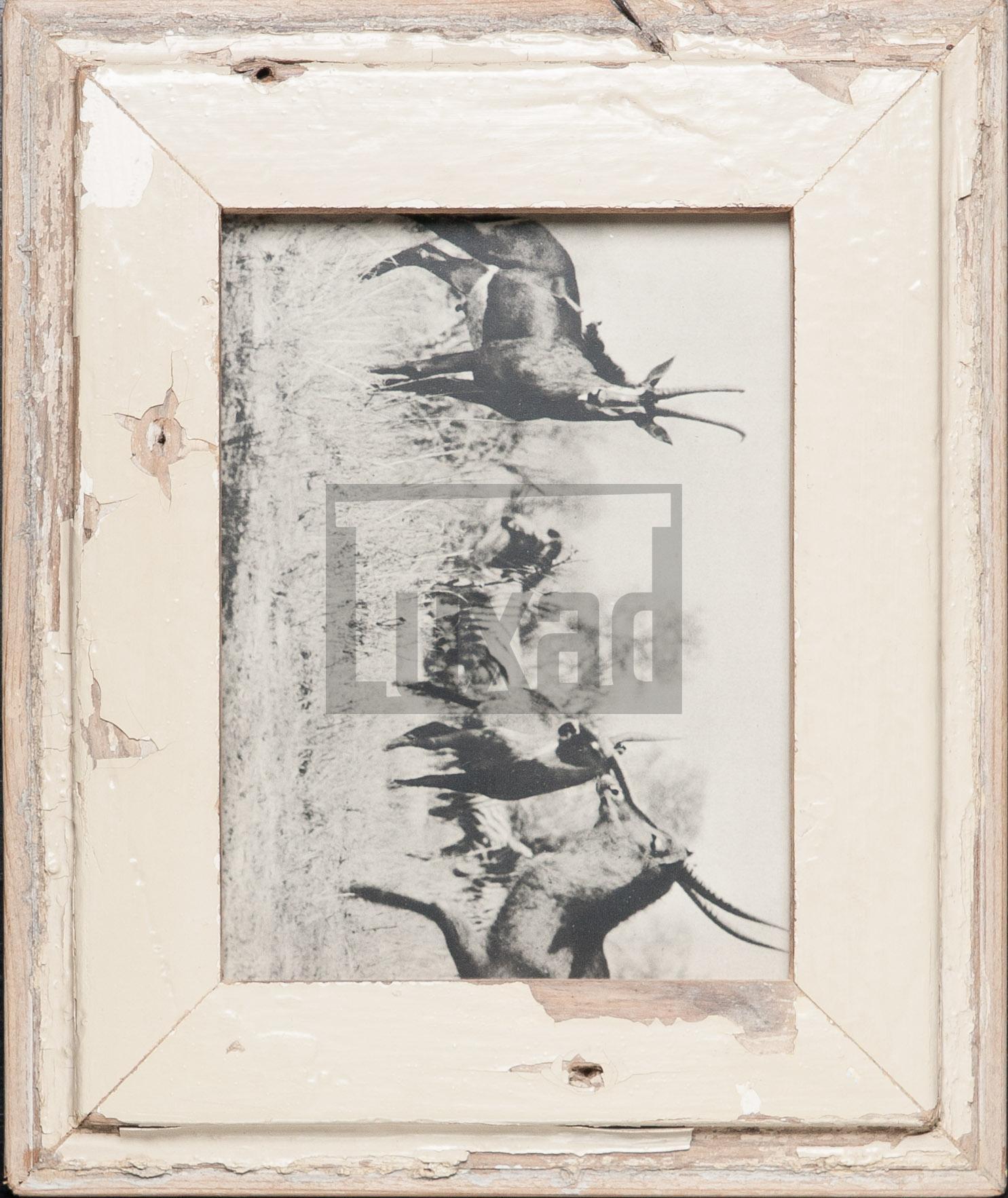 Vintage-Bilderrahmen aus altem Holz für Fotos 15 x 20 cm