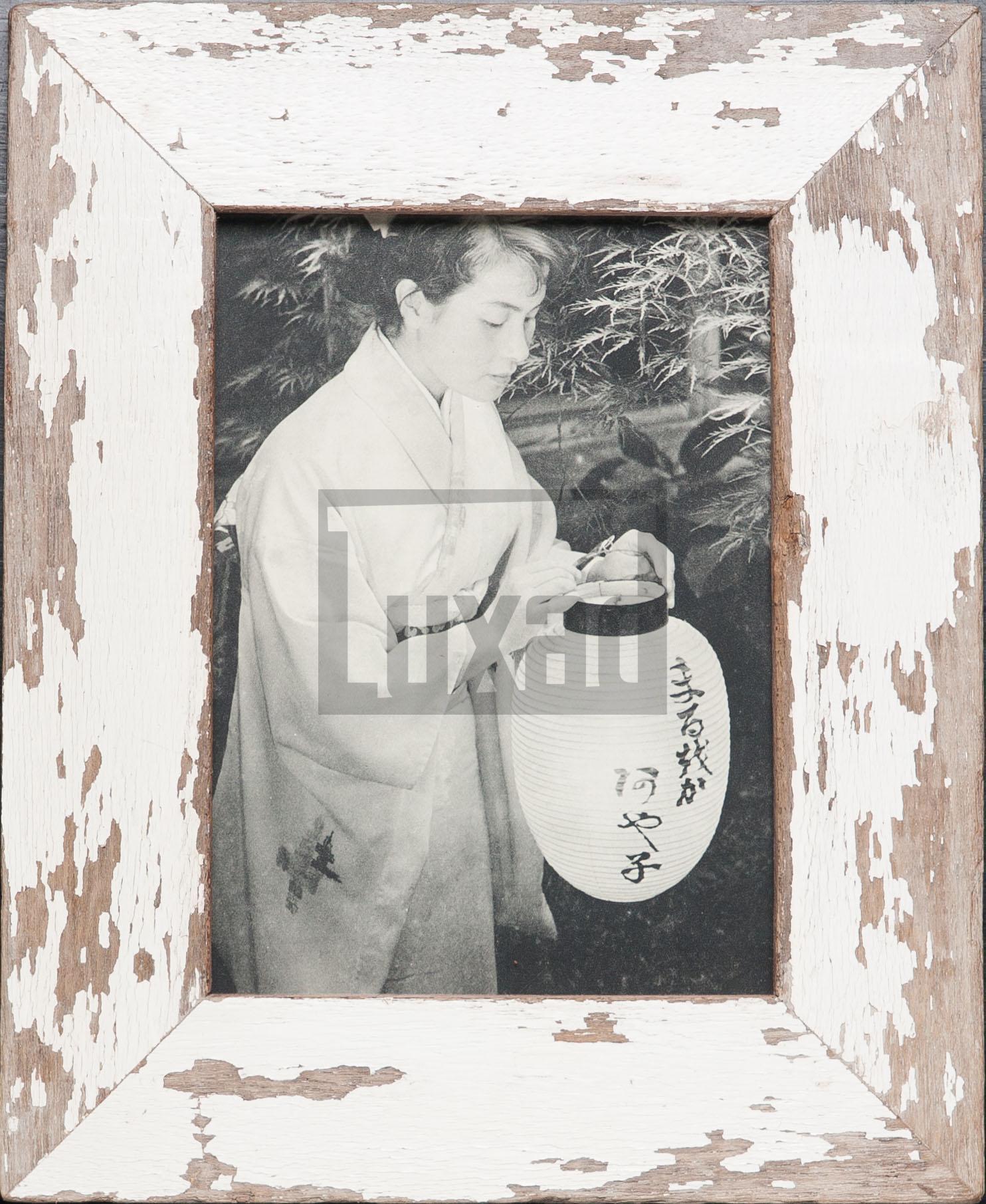 Vintage-Bilderrahmen aus altem Holz für 15 x 20 cm große Fotos