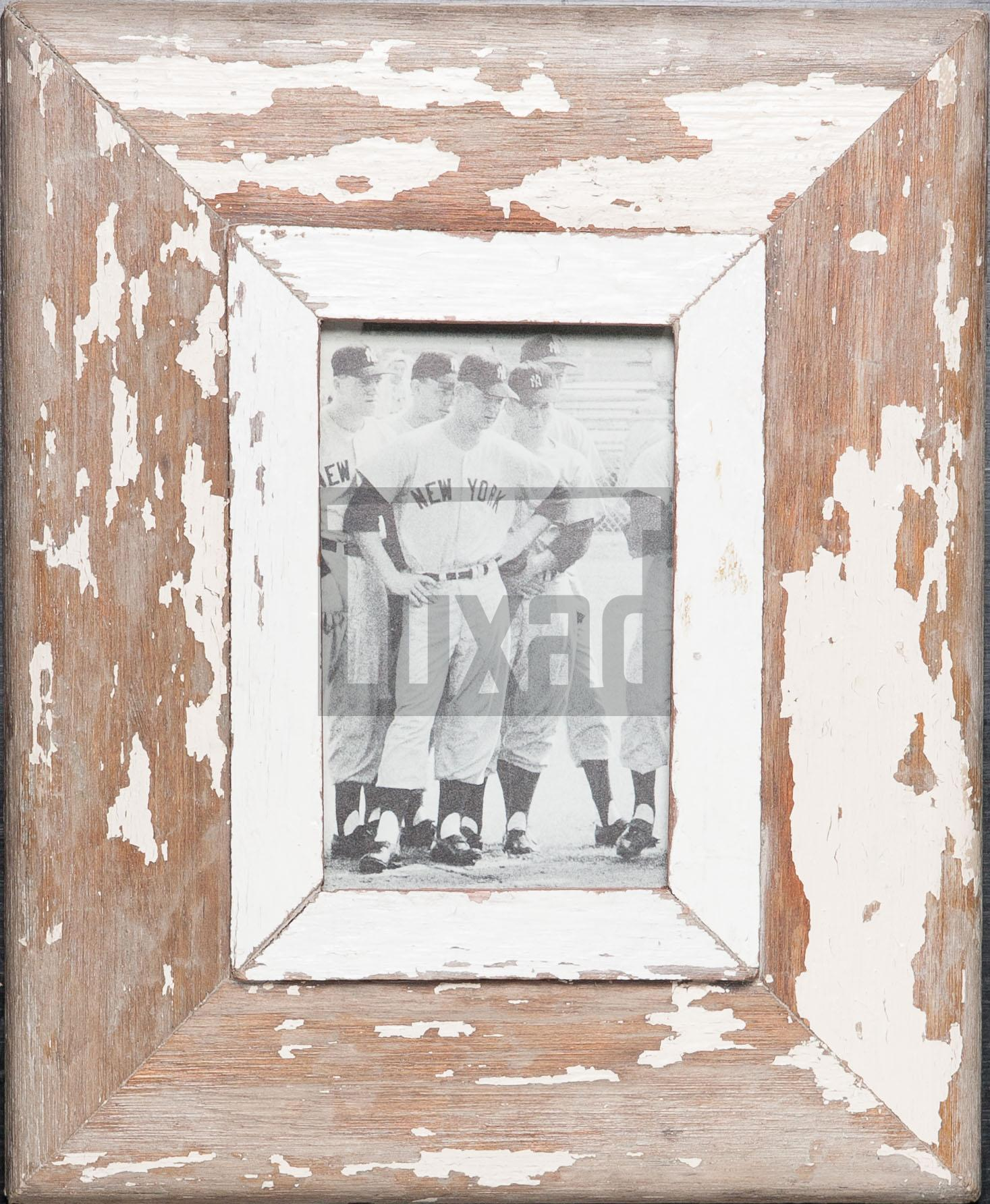 Vintage-Fotorahmen aus recyceltem Holz für ca. 10,5 x 14,8 cm