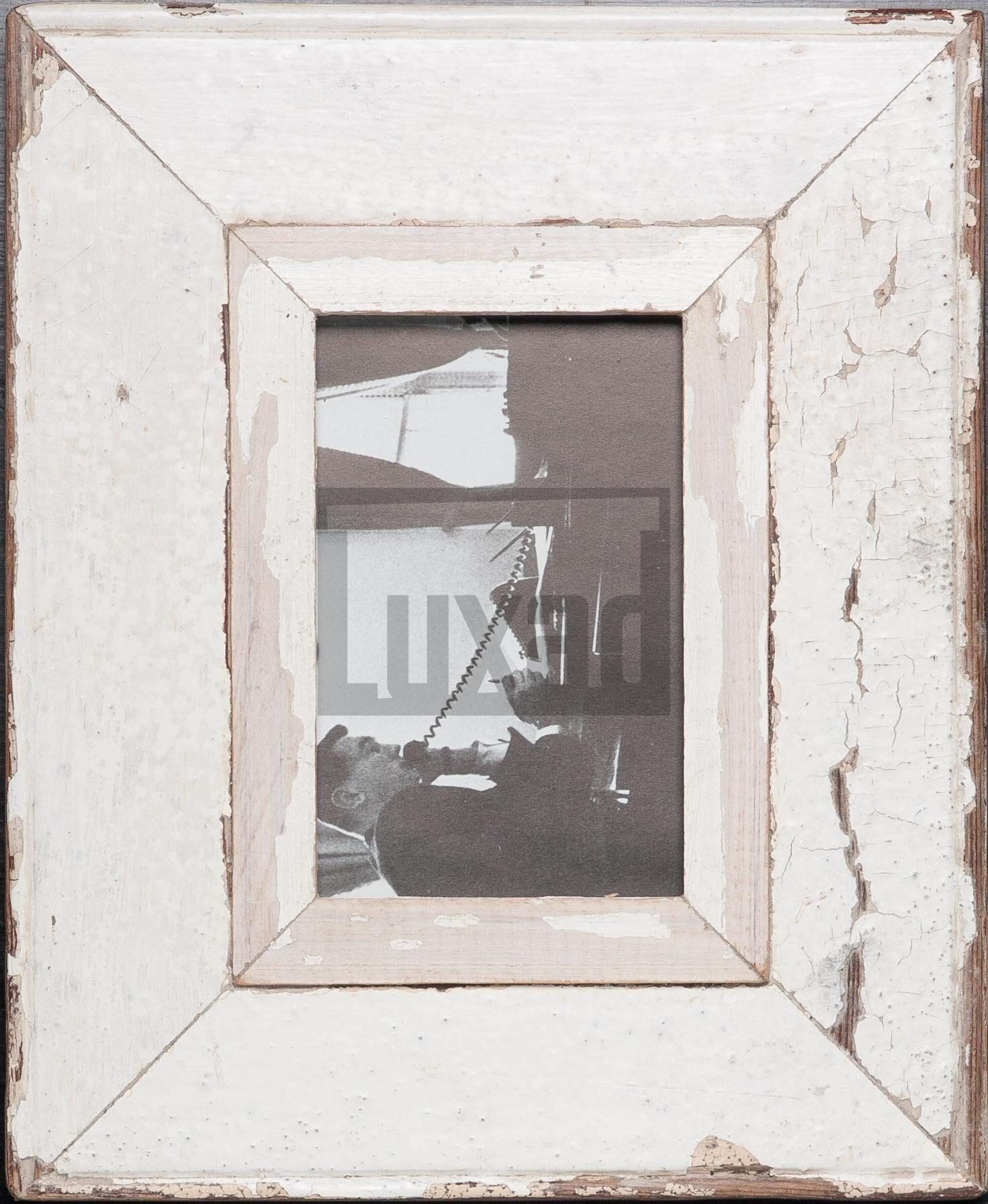 Vintage-Fotorahmen aus recyceltem Holz für Fotos DIN A6