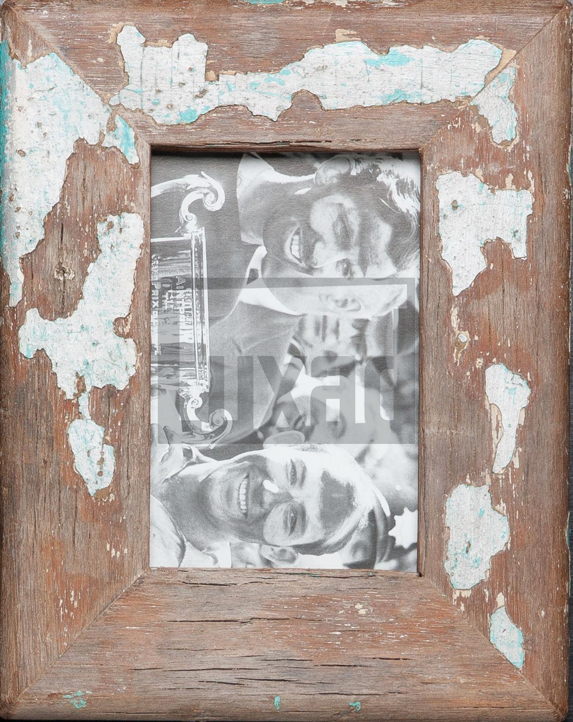 Bilderrahmen aus Recyclingholz für Fotos 10 x 15 cm