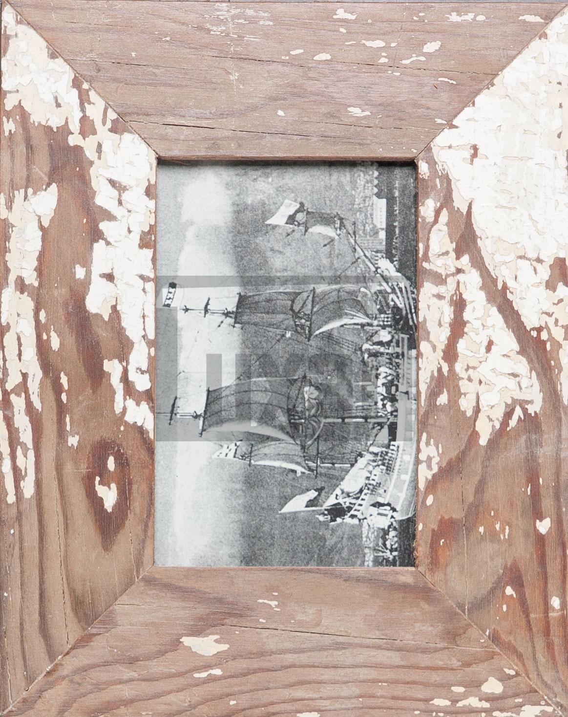 Vintage-Fotorahmen aus recyceltem Holz für die Bildgröße 10 x 15 cm