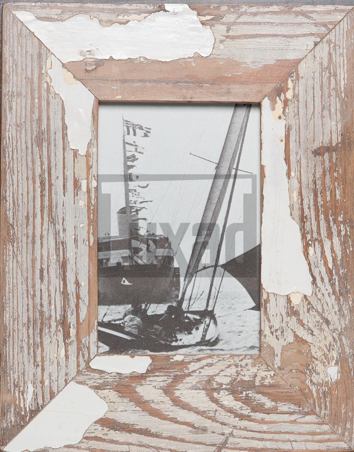 Vintage-Fotorahmen aus recyceltem Holz für 10 x 15 cm große Fotos